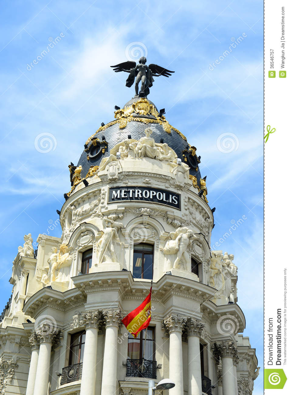 metropolis building madrid spain editorial photography image of