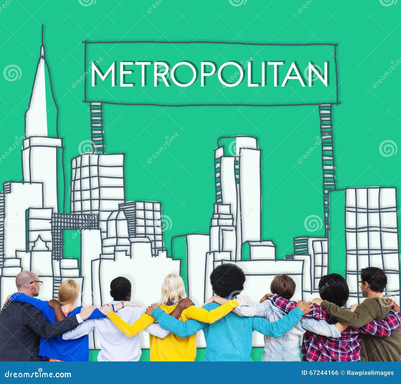 Metropolitaans Stads Stedelijk Democratie Geavanceerd Concept
