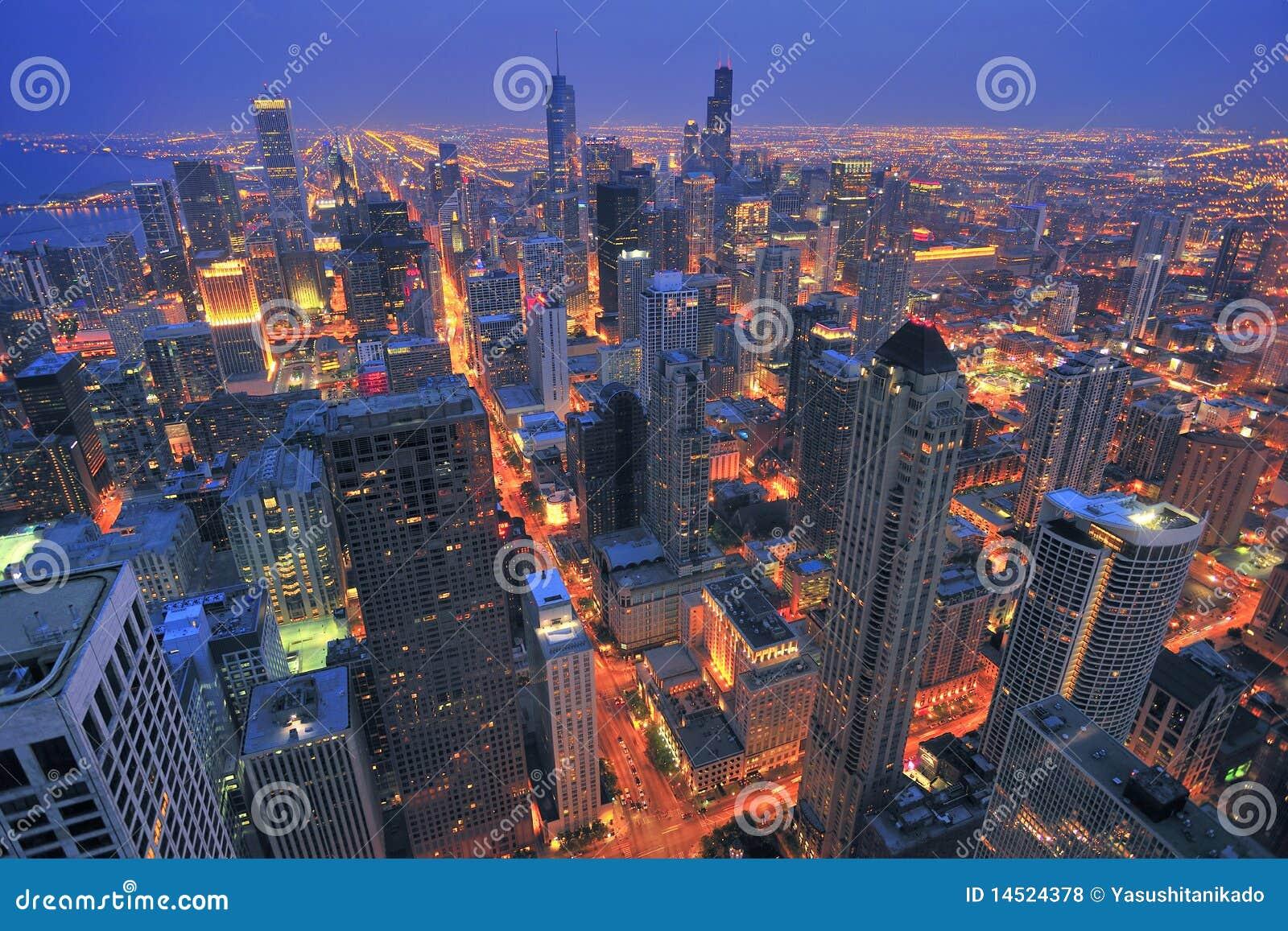 Metropolitaanse nacht scape