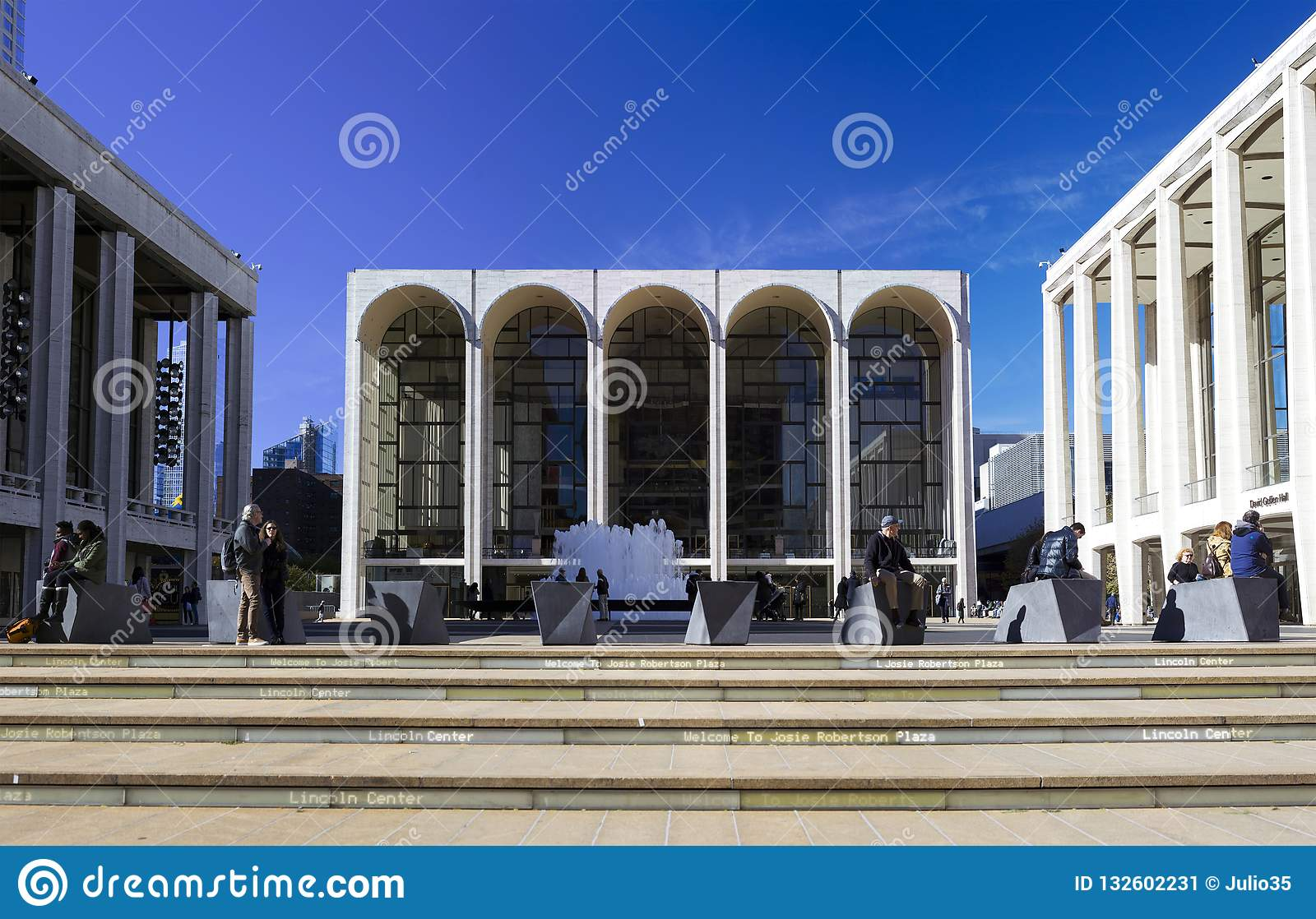 Metropolitan Opera House building in center photo located in New