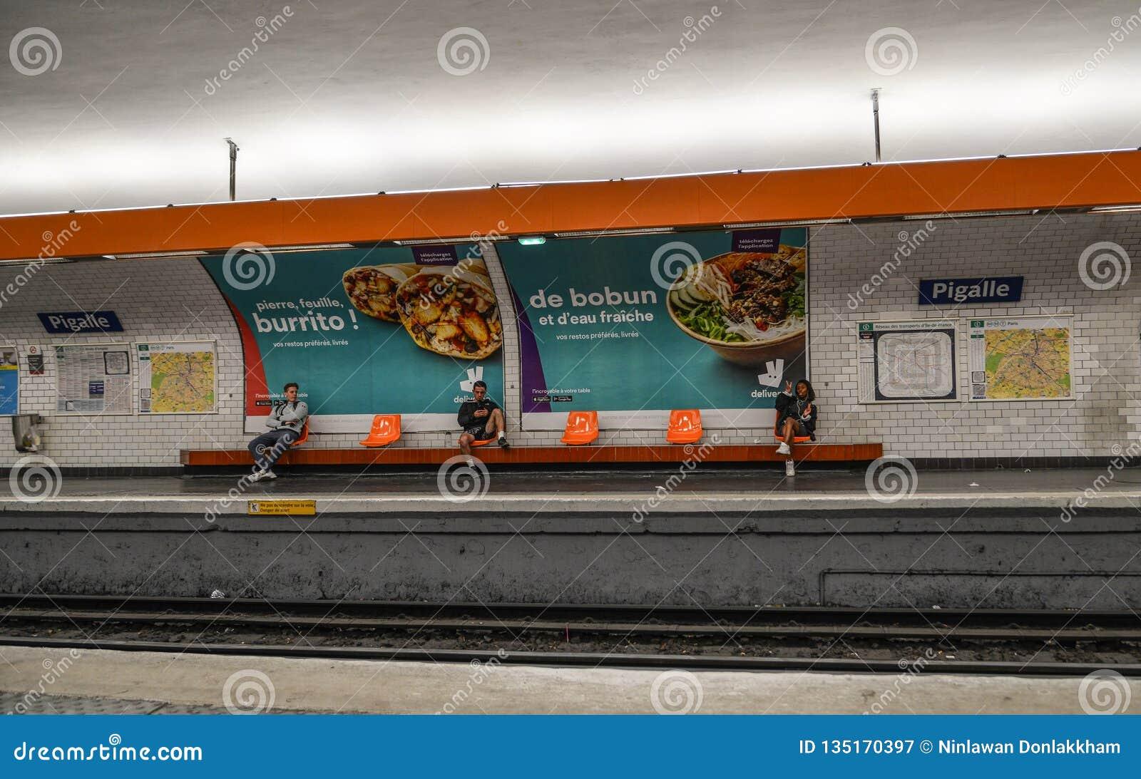 Metrostation in Paris, Frankreich