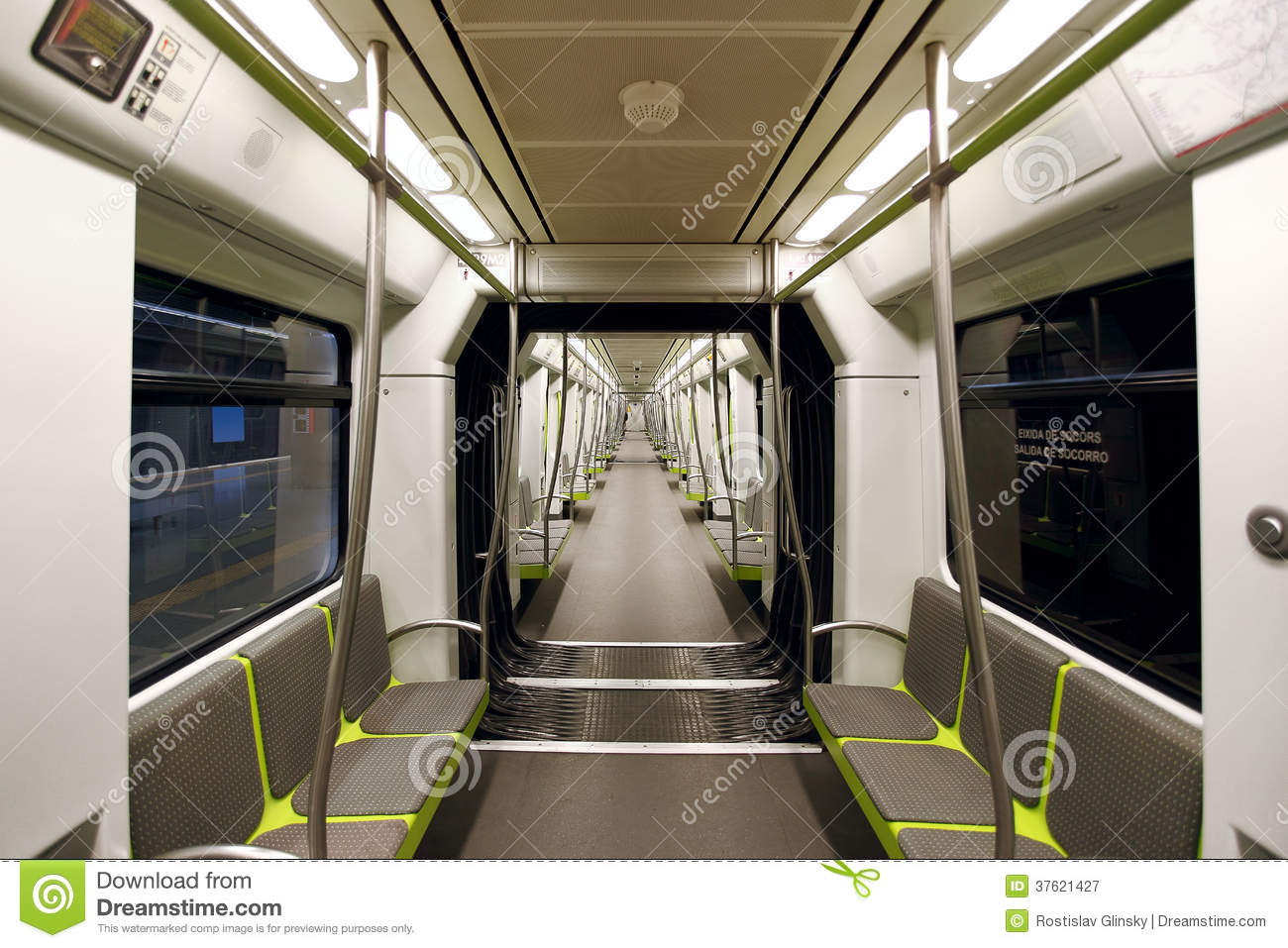 metrovalencia subway car interior view royalty free stock photography image 37621427. Black Bedroom Furniture Sets. Home Design Ideas