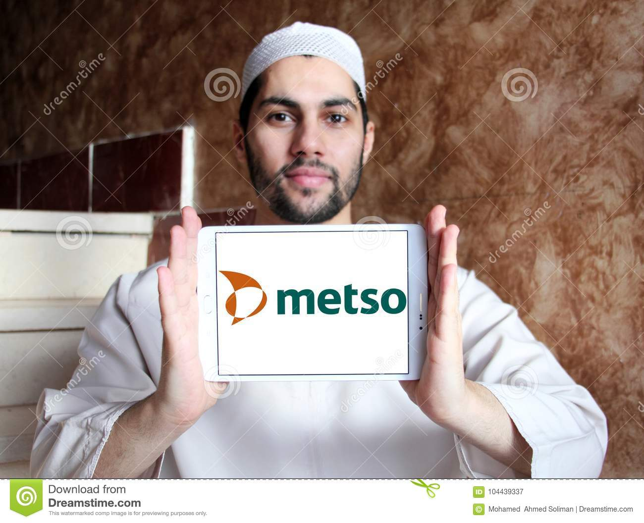 Metso Industrial Machinery Company Logo Editorial