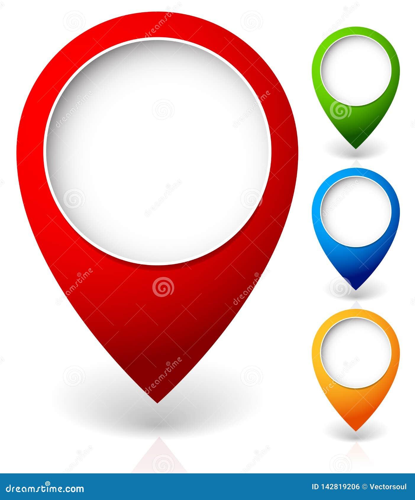 Metta degli indicatori della mappa di vettore, con i vari colori