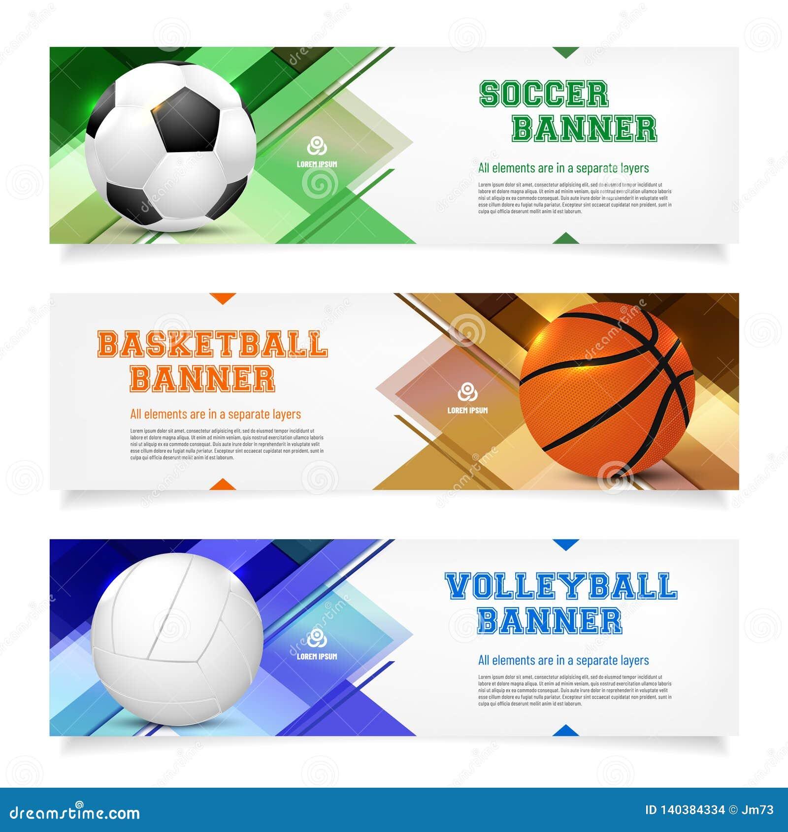 Metta dei modelli dell insegna di sport con il testo del campione e della palla