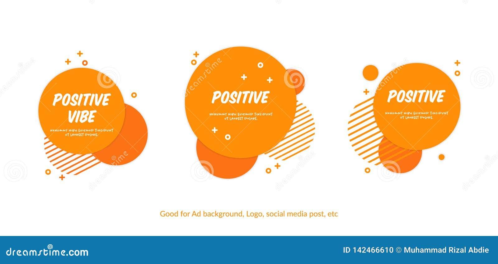 Metta del fondo arancio allegro piano del cerchio Fondo di stile di Memphis di vettore per il sito Web, l insegna, le coperture,