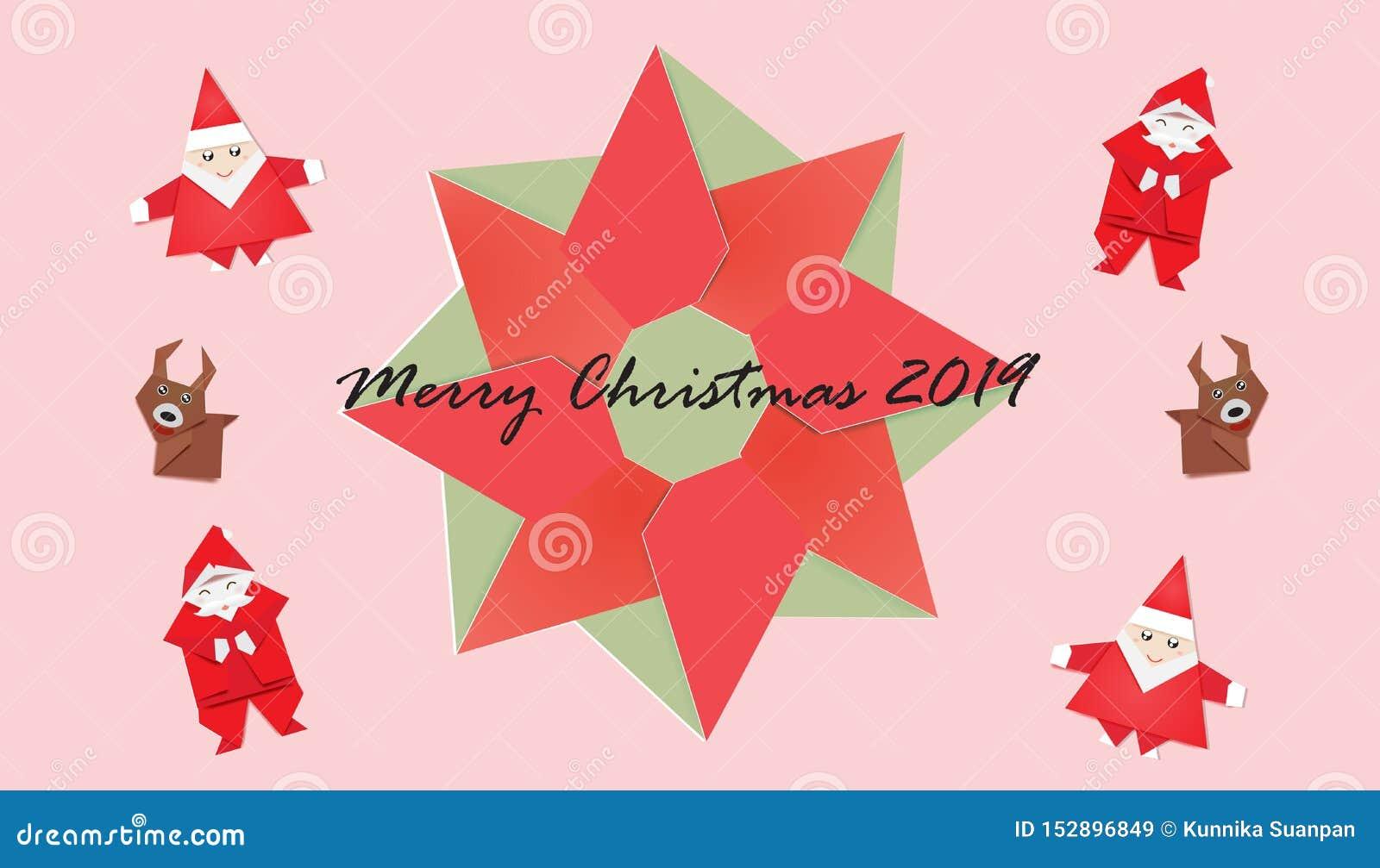 Metta del Natale su fondo rosa, sulla corona e su Santa sveglia