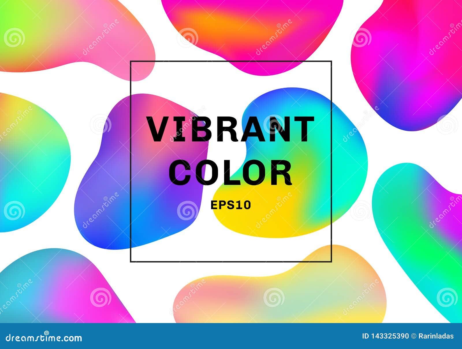 Metta di 3D fondo vibrante di colore di forme degli elementi liquidi o fluidi di pendenza
