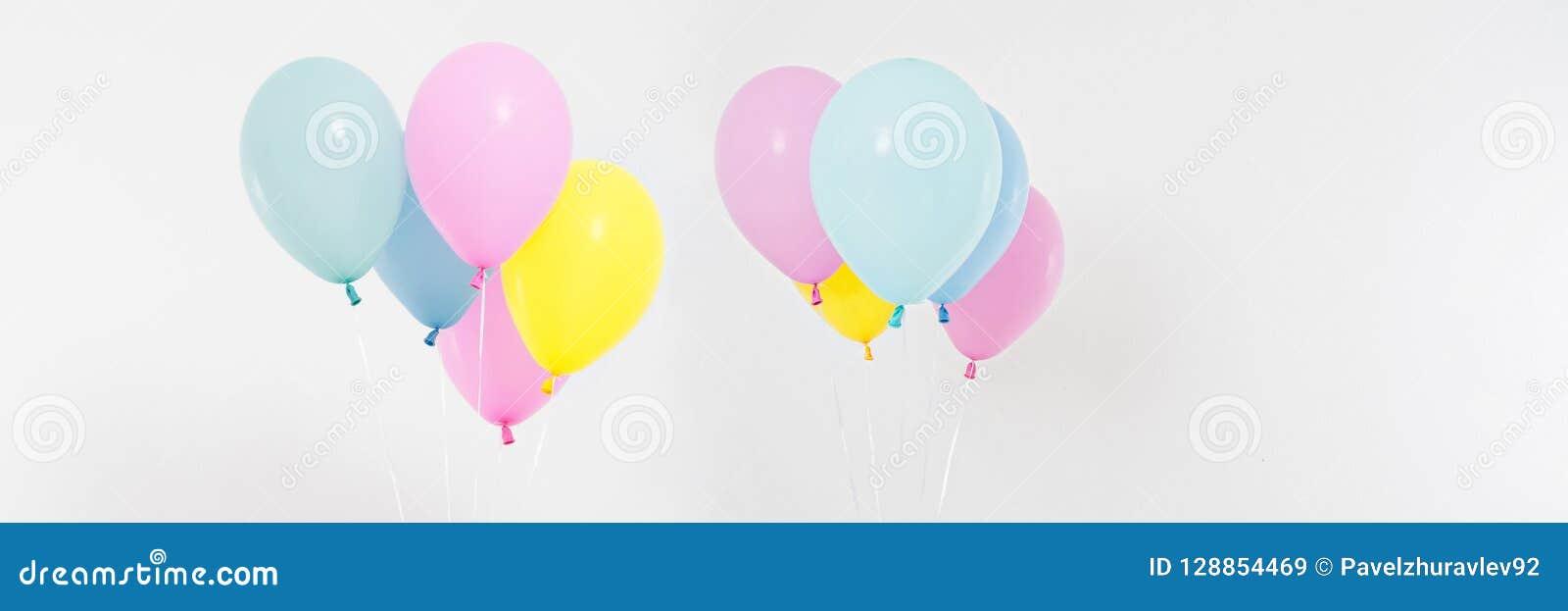 Metta, fondo dei palloni colorato collage Celebrazione, feste, concetto di estate Modello di progettazione, tabellone per le affi