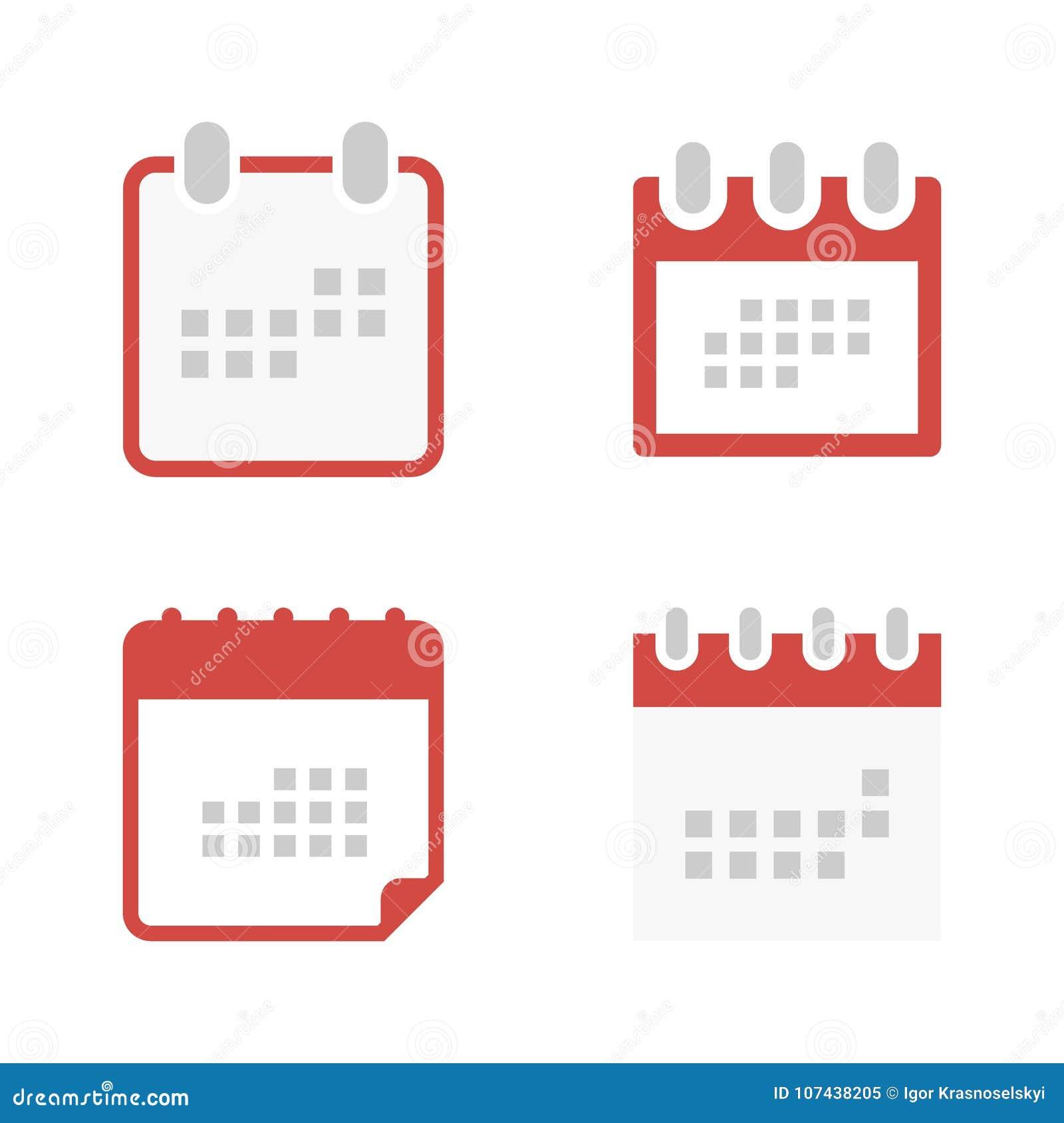 Calendario Per Sito Web.Metta L Icona Del Calendario Nello Stile Piano Simbolo Per