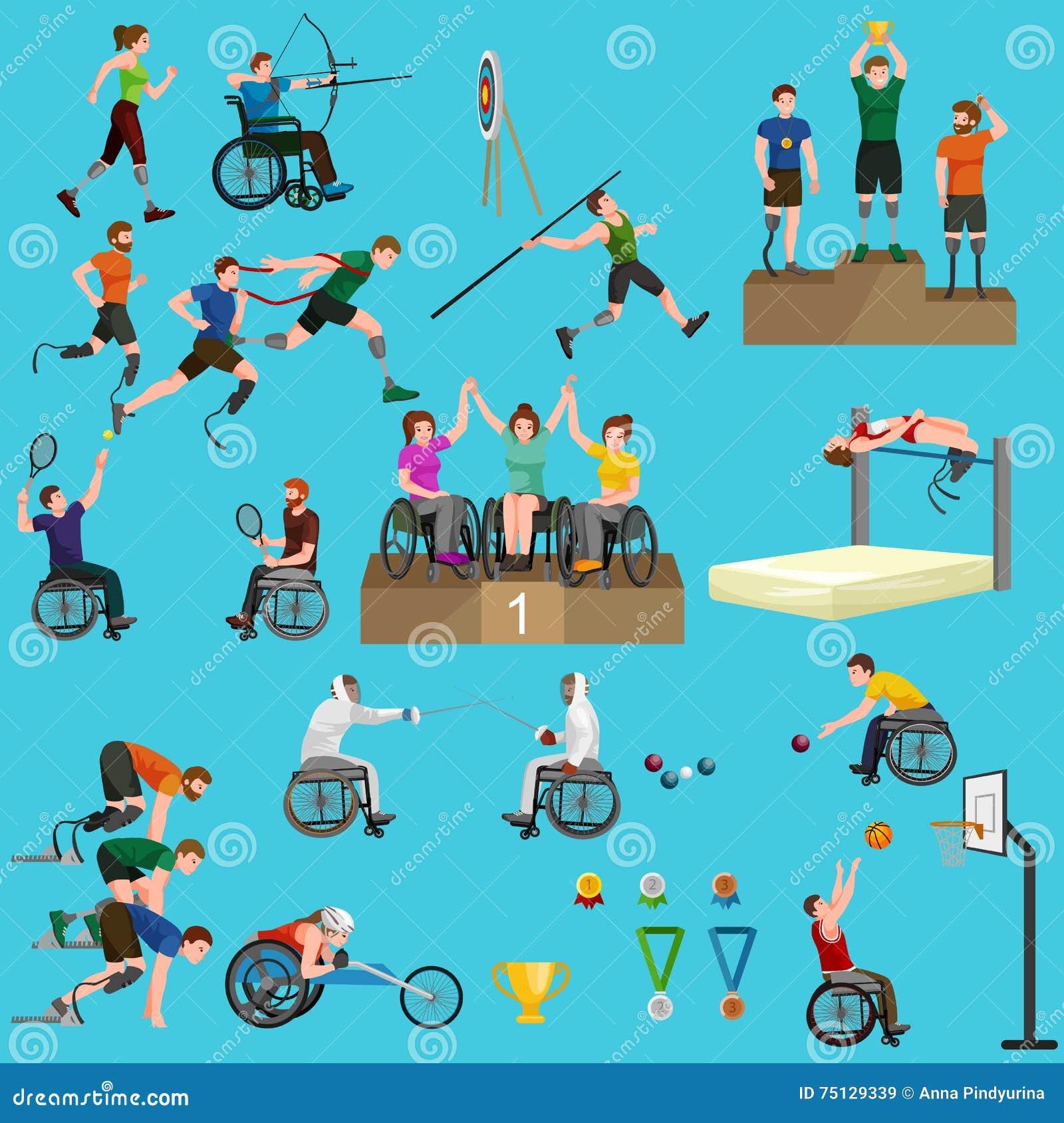 Metta in mostra per la gente con la protesi, l attività fisica e la concorrenza invalide, concetto disabile del gioco atletico