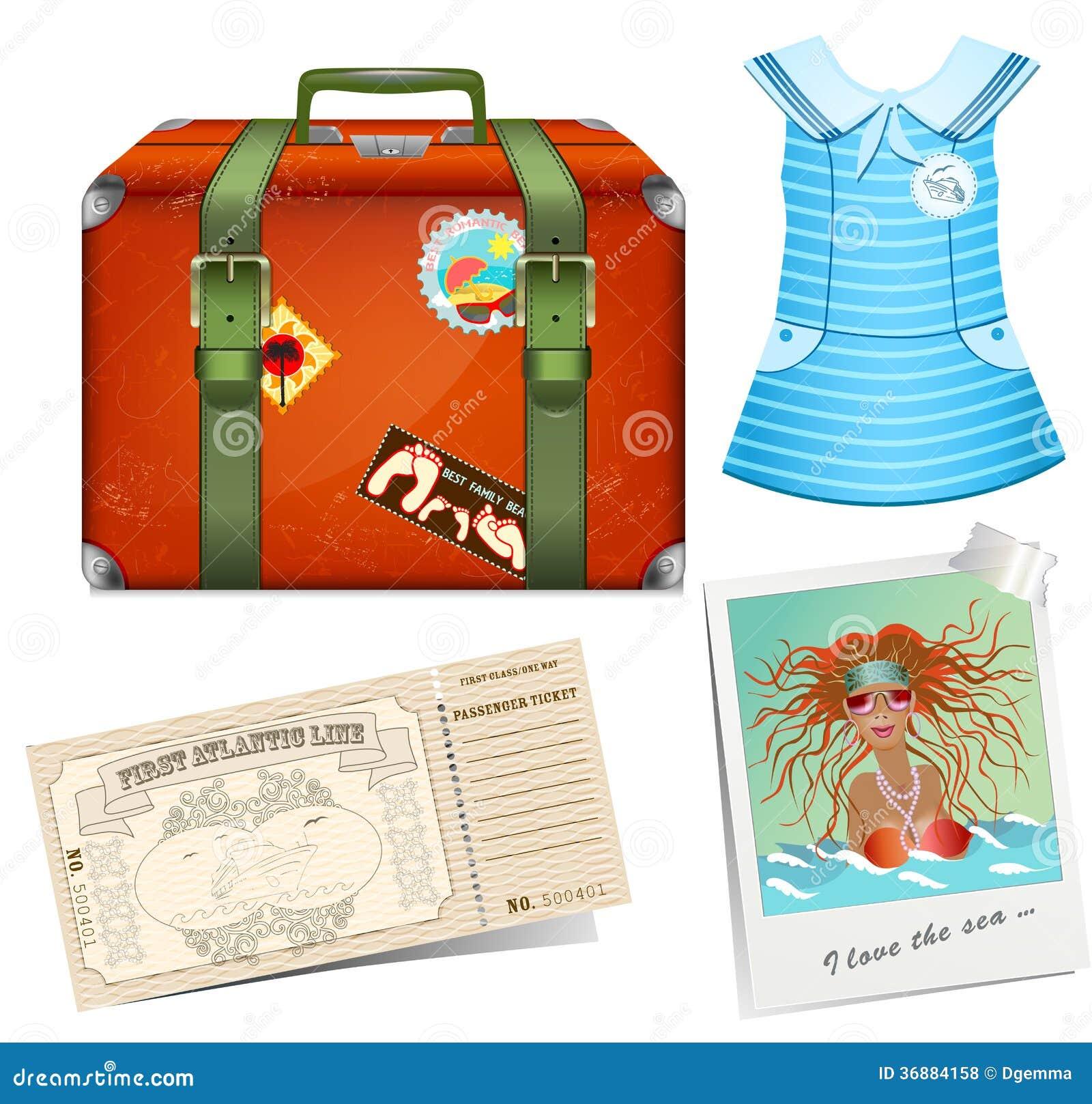 Download Metta per viaggiare. illustrazione vettoriale. Illustrazione di retro - 36884158
