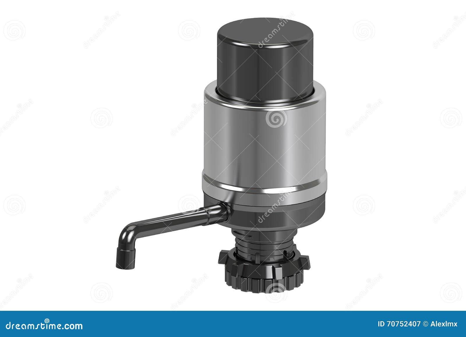 mettez la pompe en bouteille d 39 eau potable pompe de distributeur de l 39 eau rendu 3d illustration. Black Bedroom Furniture Sets. Home Design Ideas