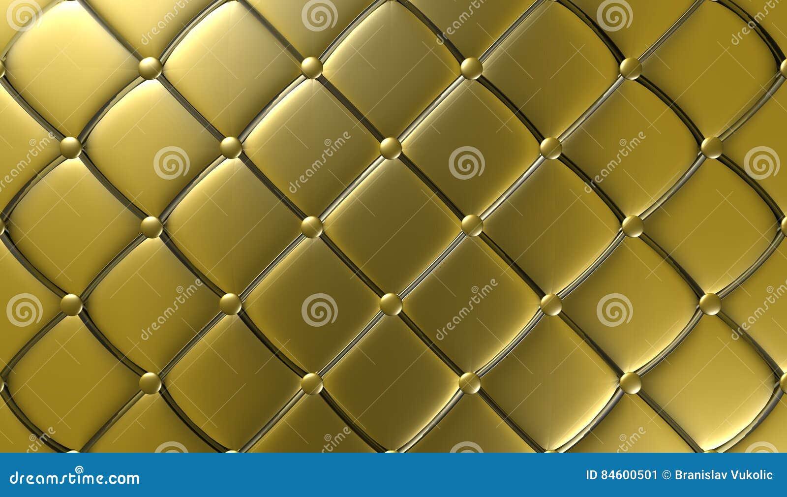 Meubilair van het luxe het gouden leer, behang, illustratie