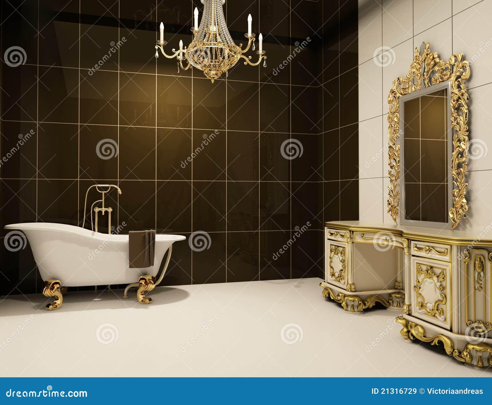 Meubles Baroques meubles baroques dans la salle de bains illustration stock