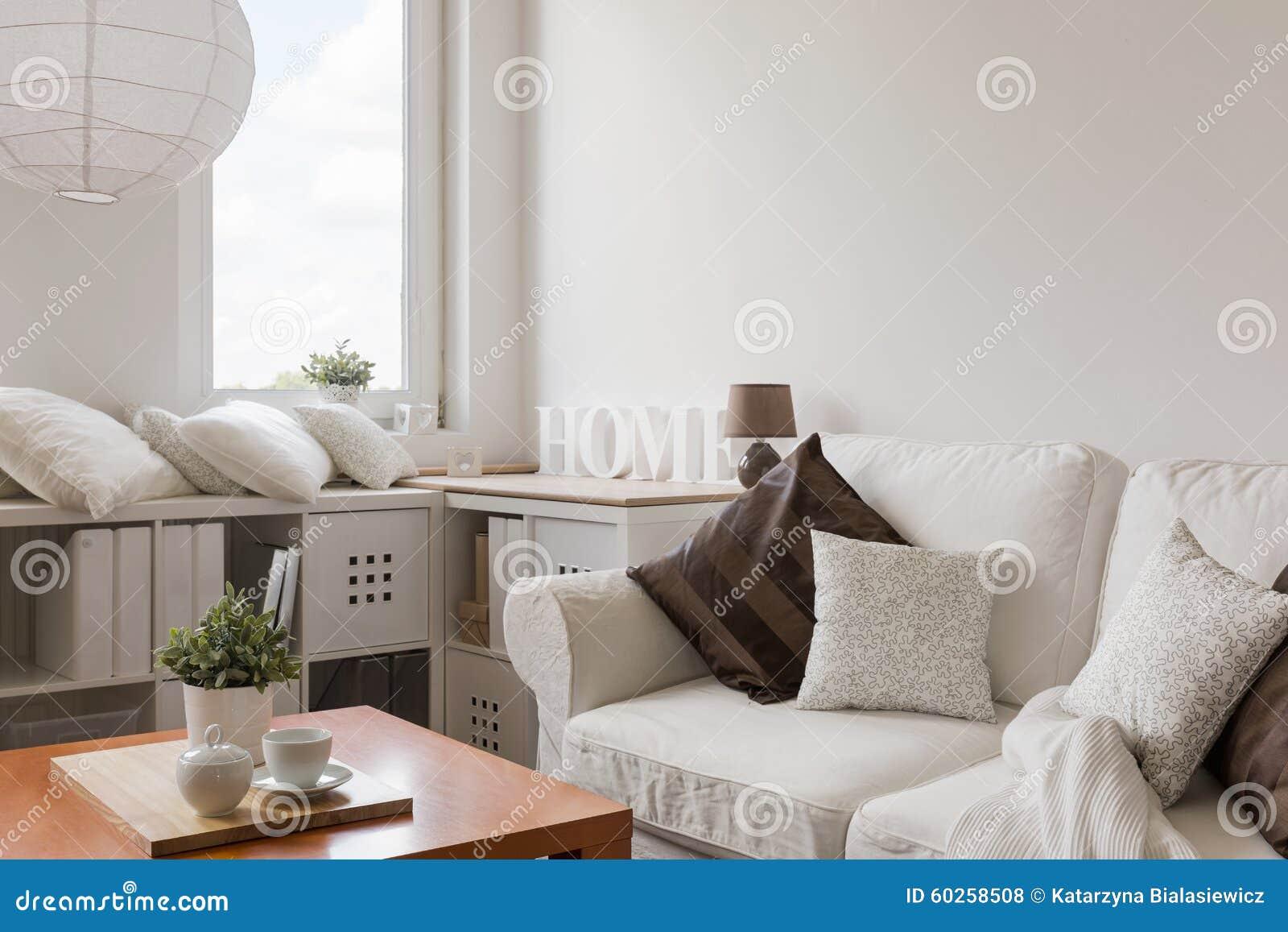 Meubles Blancs Dans Le Salon Contemporain Photo Stock Image Du  # Meubles Blancs Contemporain Salon