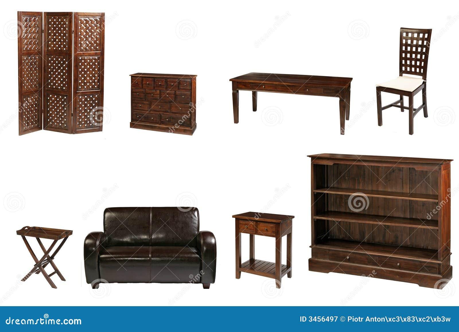 meubles coloniaux photographie stock libre de droits