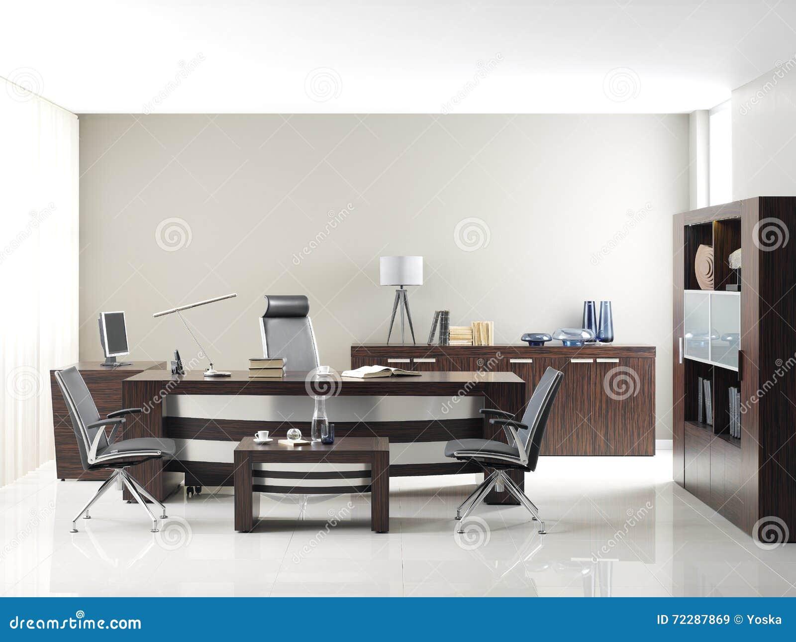 Meubles de bureau de vip illustration stock. illustration du brun