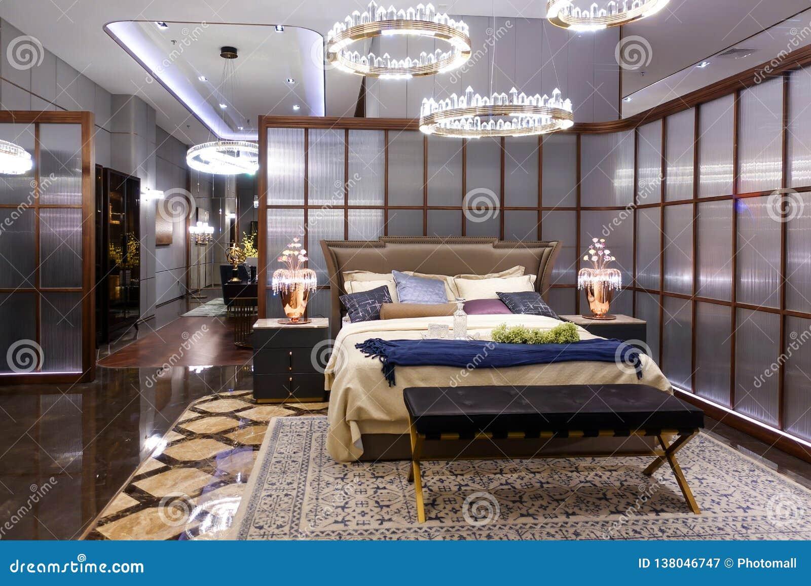 Meubles de chambre à coucher dans la place d hôtel de luxe