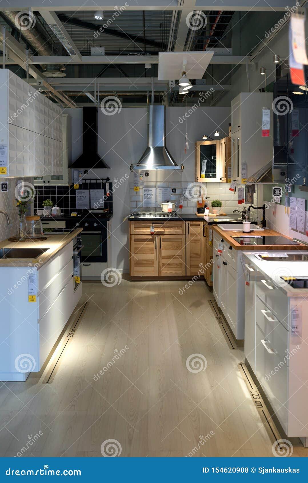 Meubles De Cuisine A Vendre Dans Le Magasin D Ikea Conception