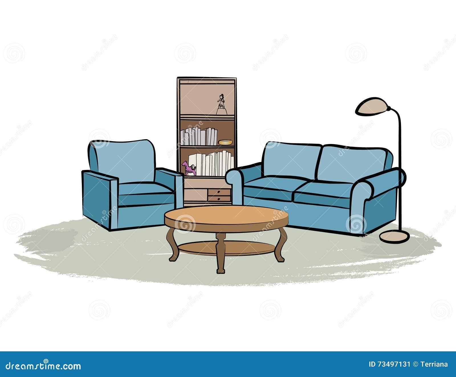 Meubles Int Rieurs La Maison Avec Le Sofa Fauteuil Table  # Les Meubles Pour La Maison