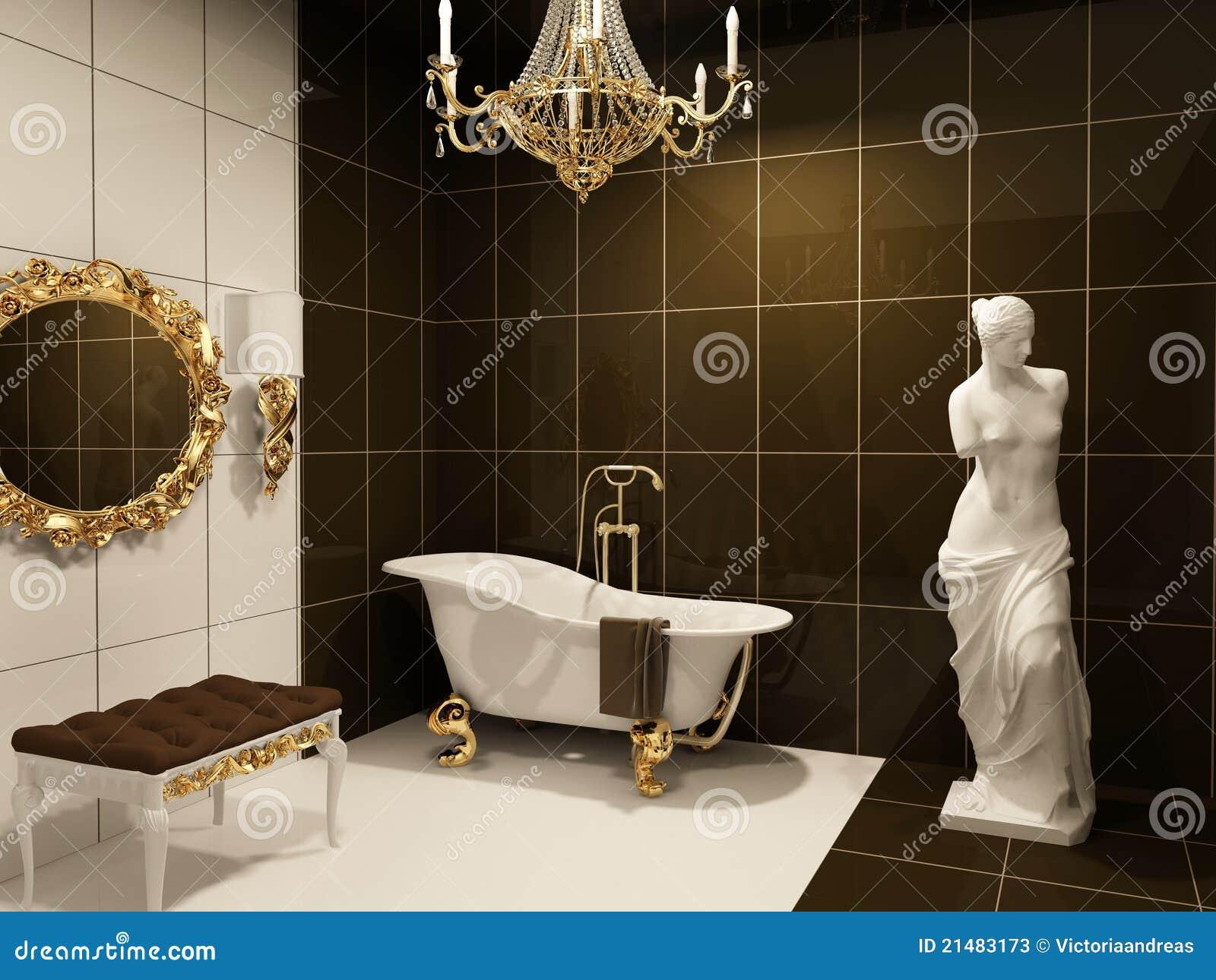 Meubles Luxueux Dans La Salle De Bains Baroque