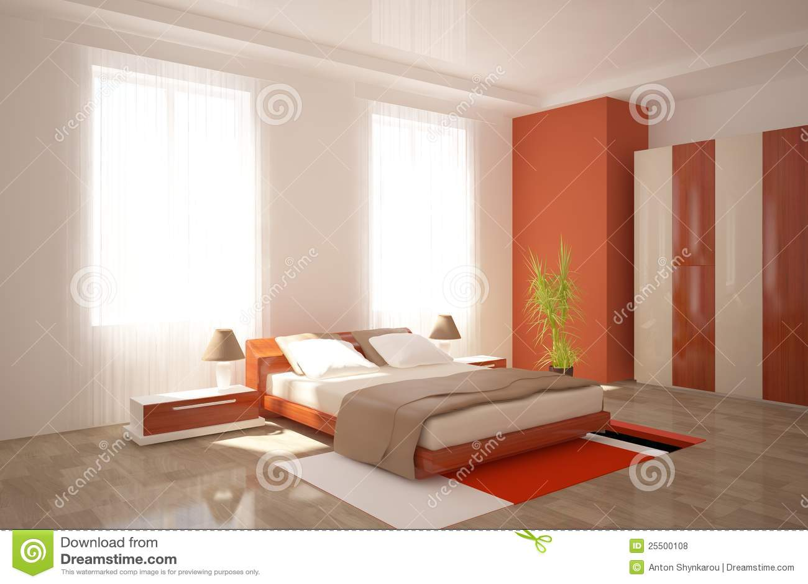 Meubles modernes de chambre à coucher photos libres de droits ...