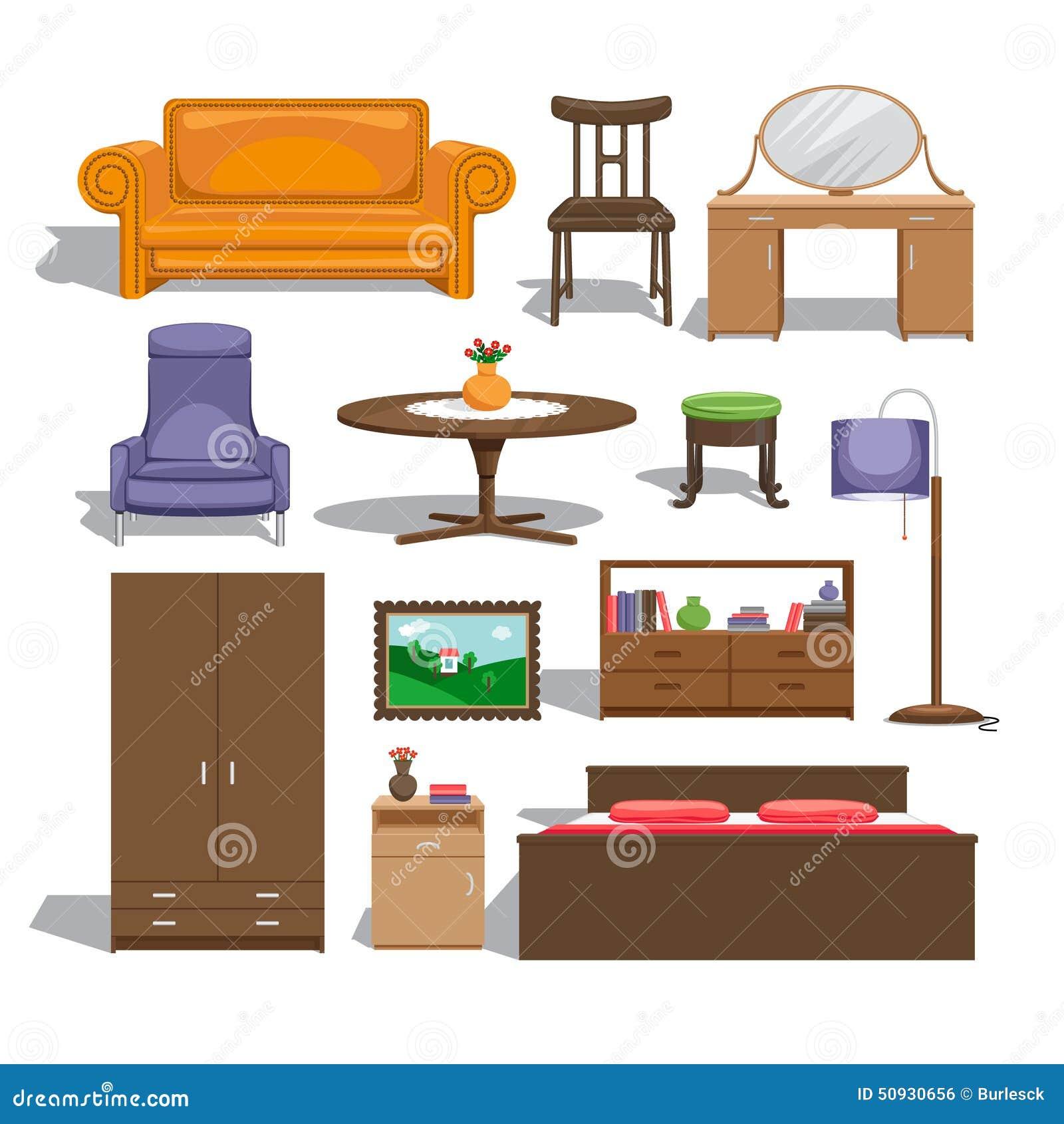 Meubles Pour La Chambre A Coucher Illustration De Vecteur