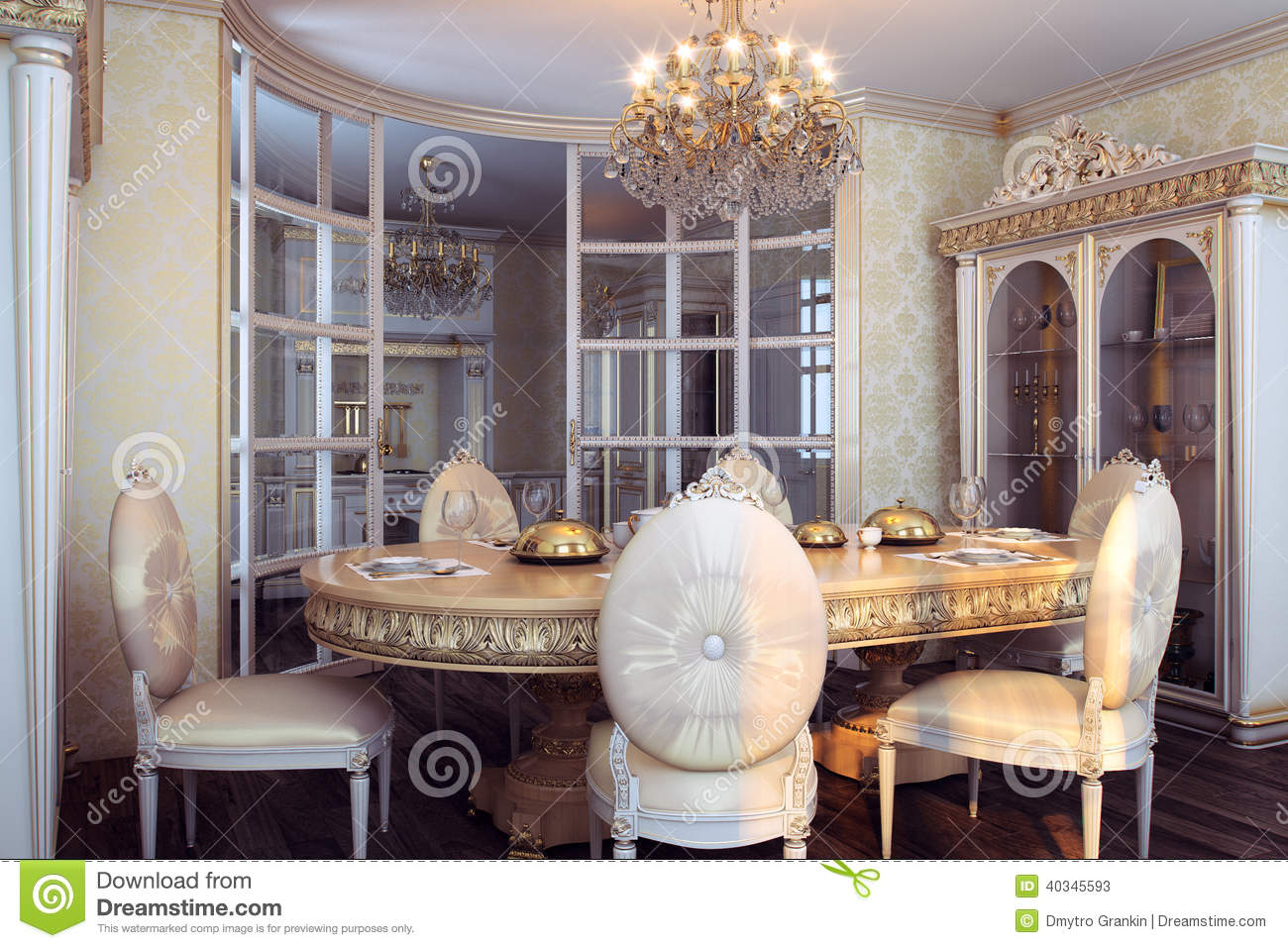 Meubles royaux dans l 39 int rieur baroque de luxe photo for Interieur baroque