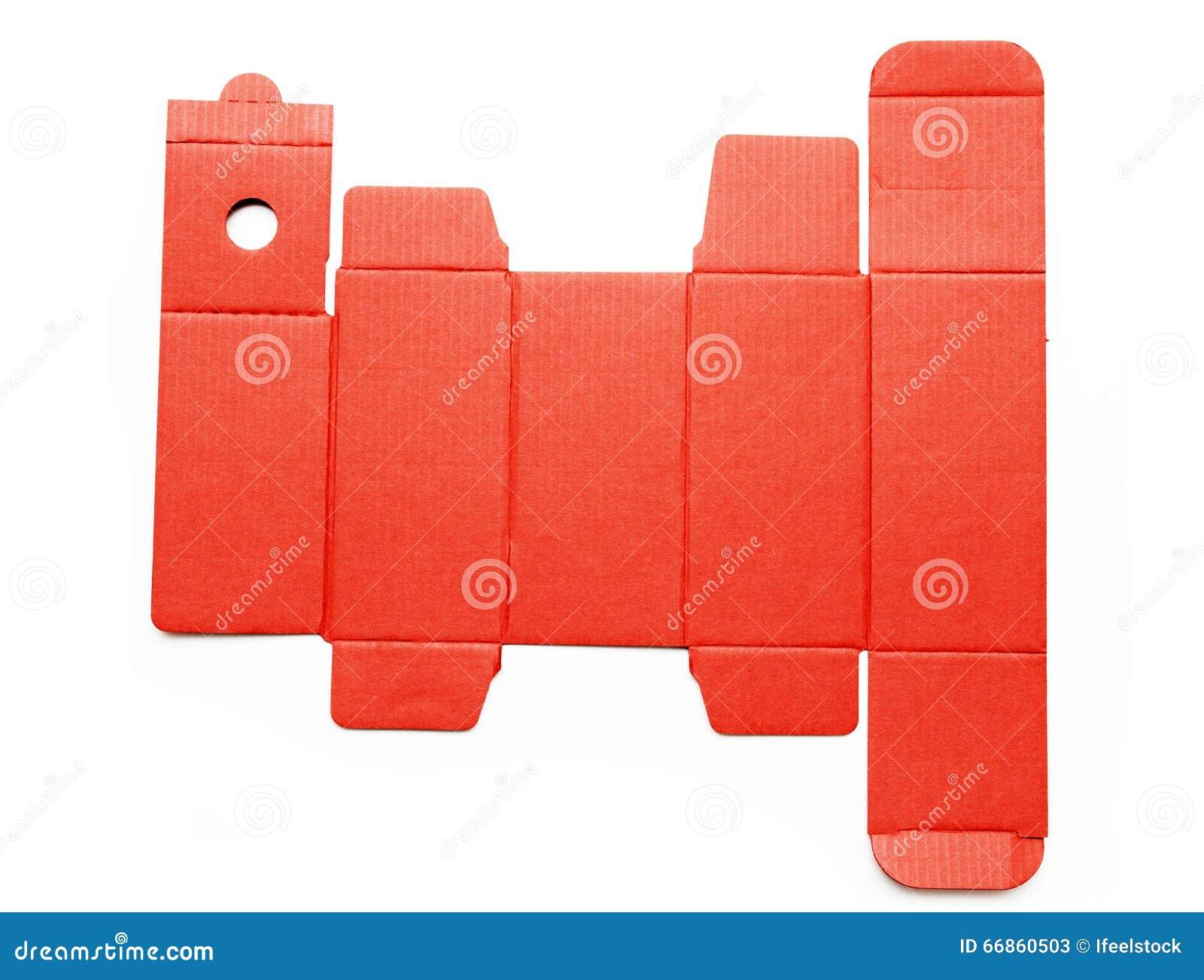 Meurent la ligne calibre d une boîte en carton rouge