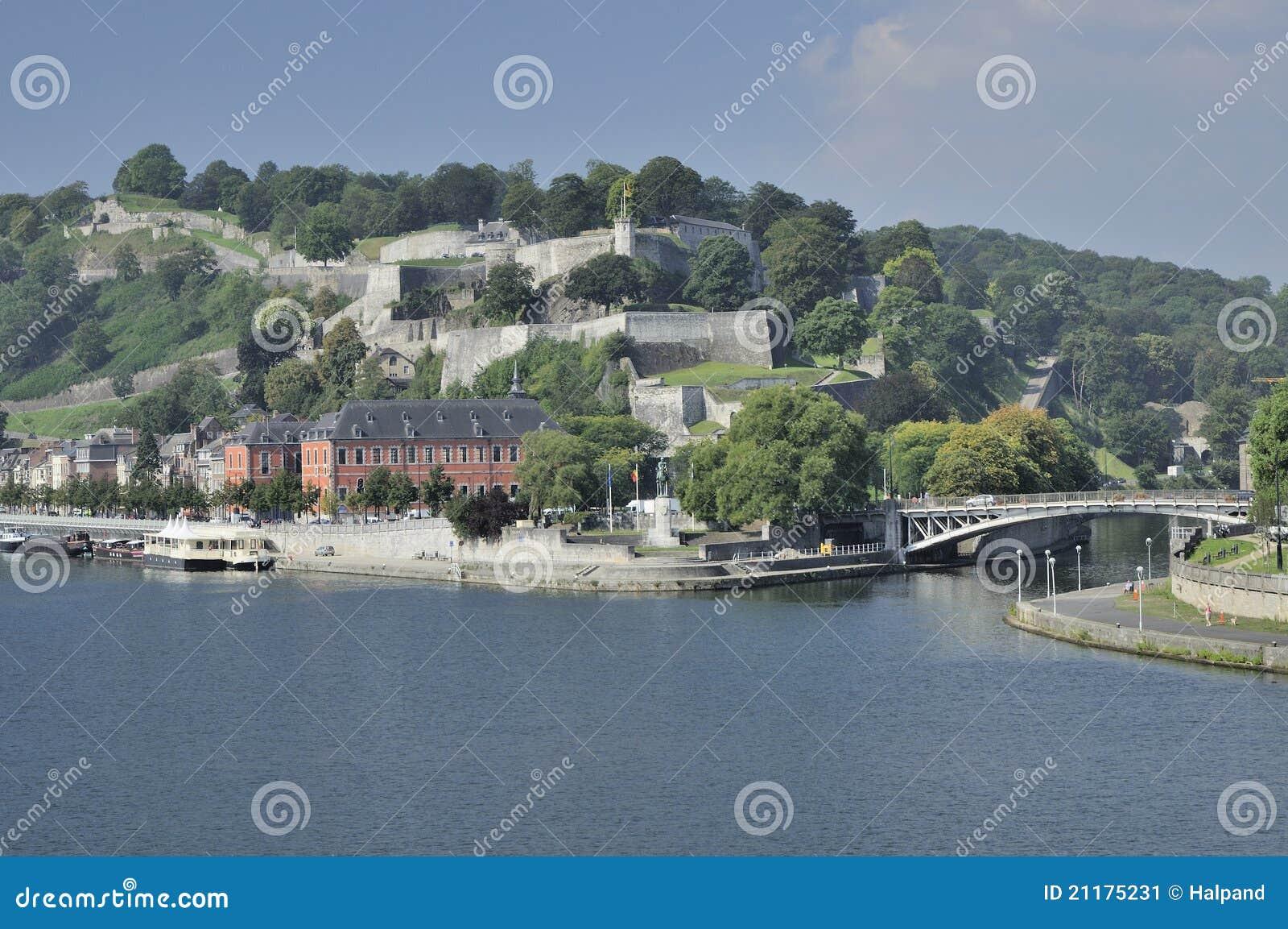 Meuse and sambre under citadelle, namur