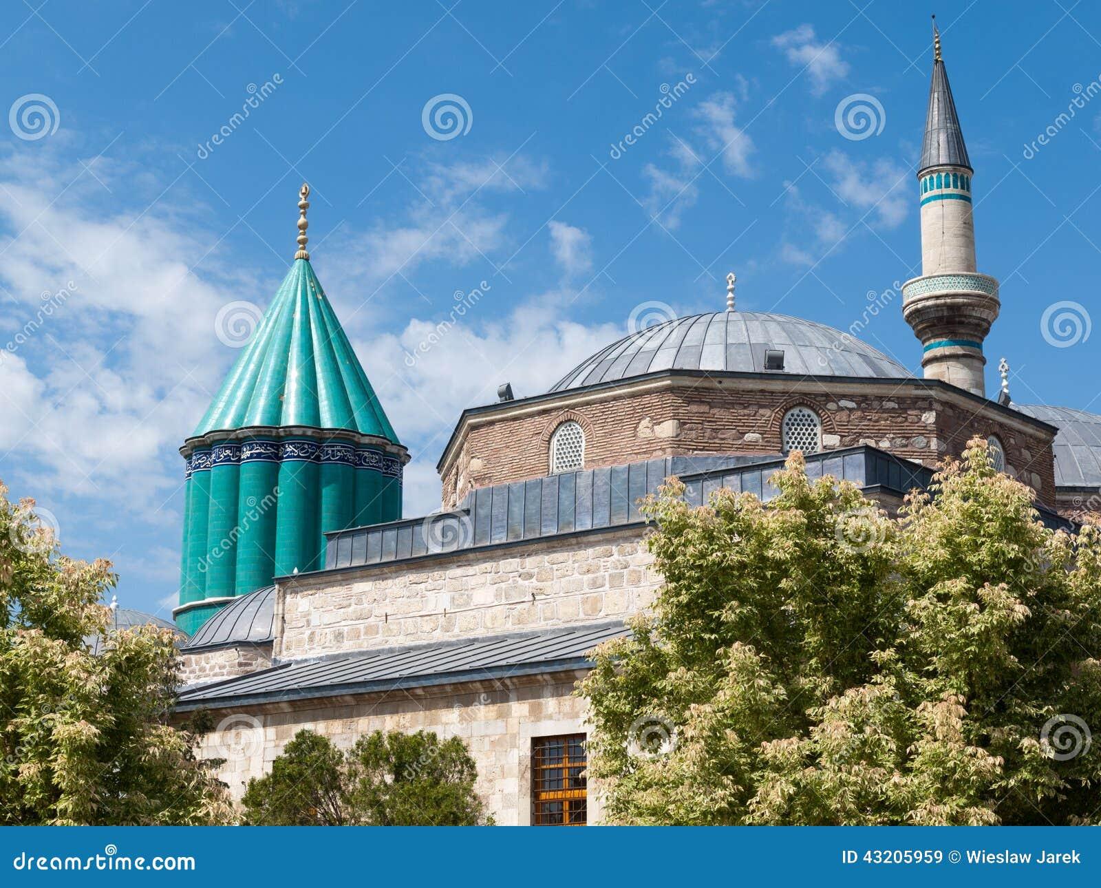 Download Mevlana Museummoské I Konya Fotografering för Bildbyråer - Bild av town, helgedom: 43205959