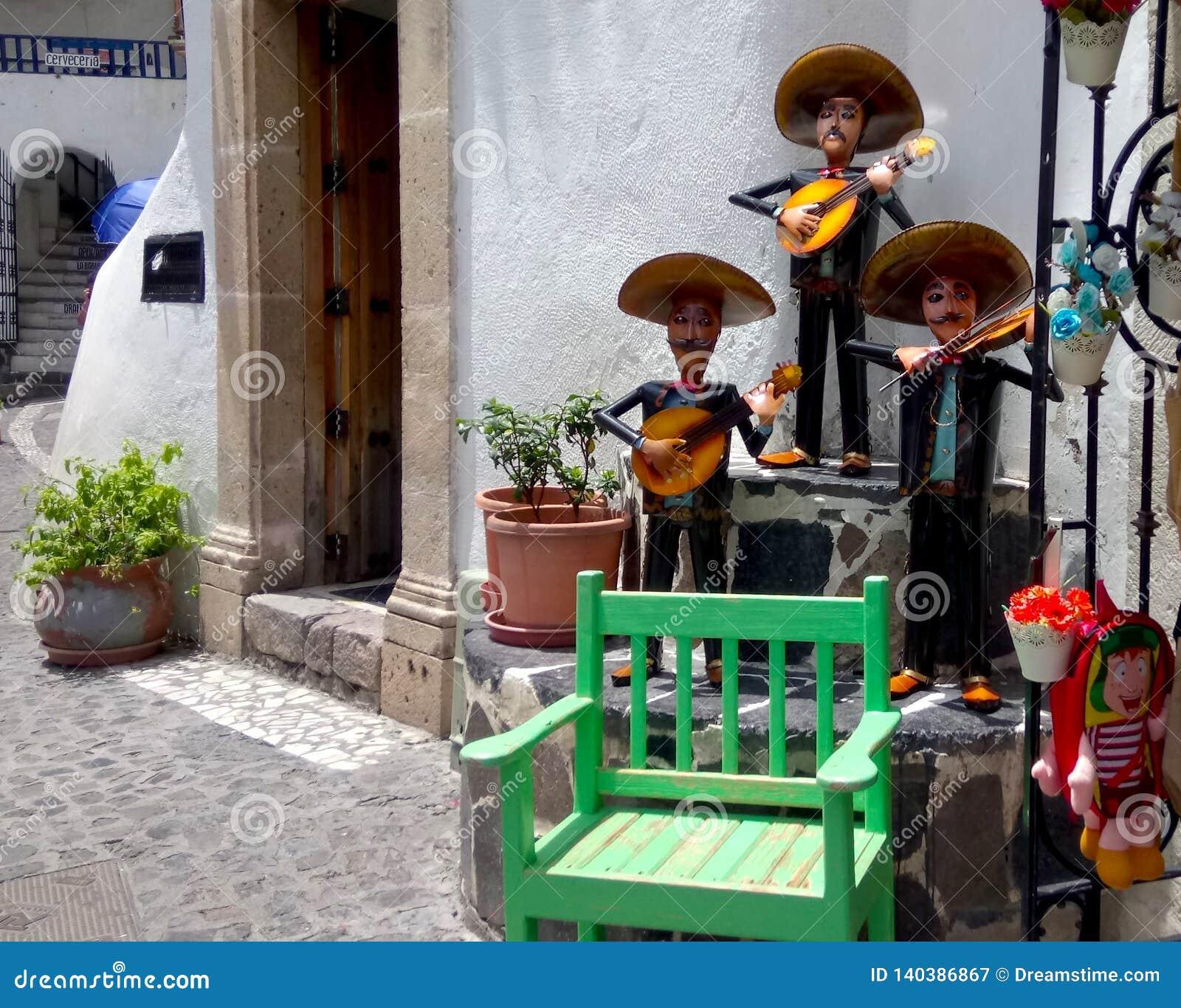 Mexicaans kunsthoogtepunt van het leven, muziek en kleur