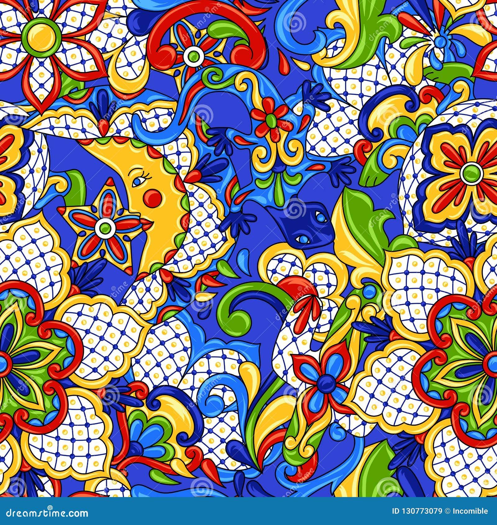 Mexicaans naadloos patroon