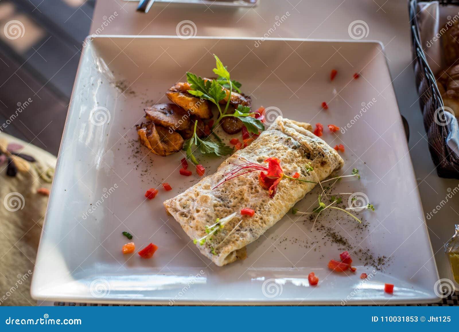 Mexicaans omeletontbijt met weegbree