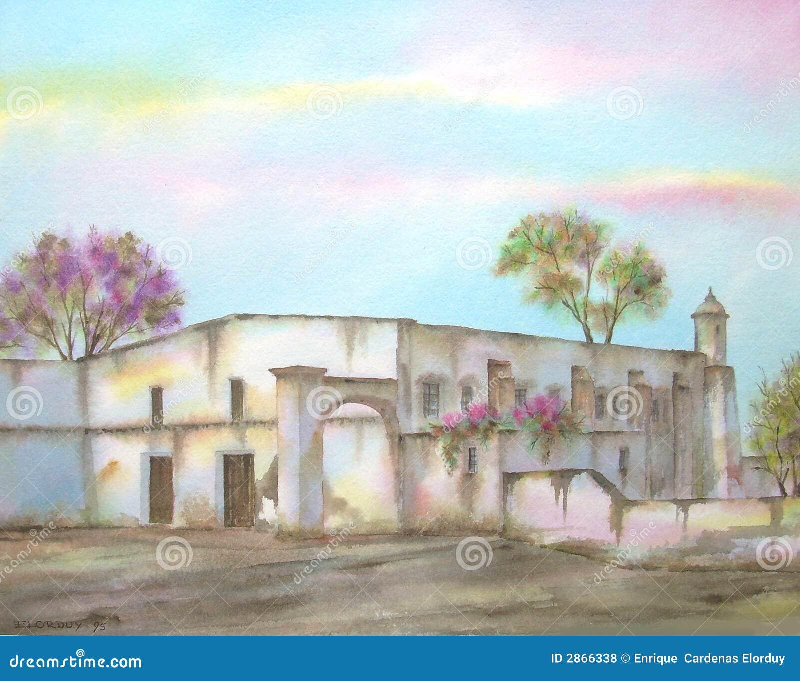 Mexicaanse Hacienda op Michoacan