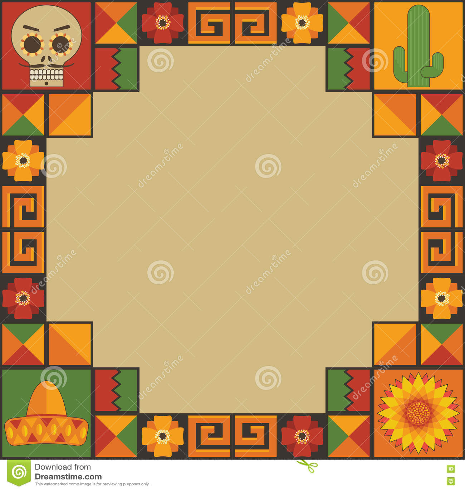 Mexicaanse kaderdecoratie