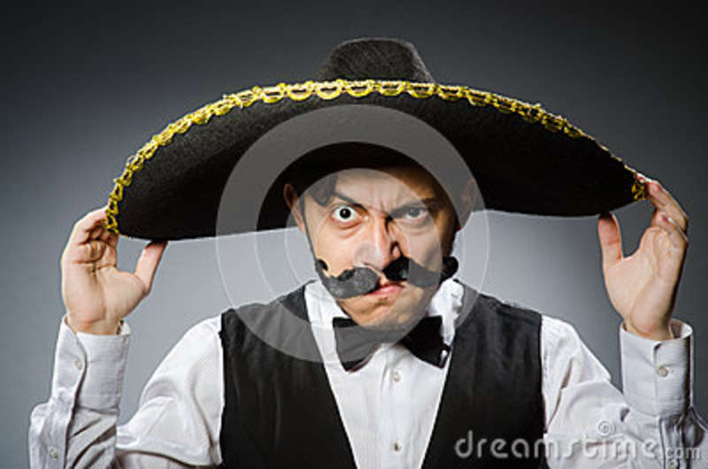 Mexicaanse mens in grappig