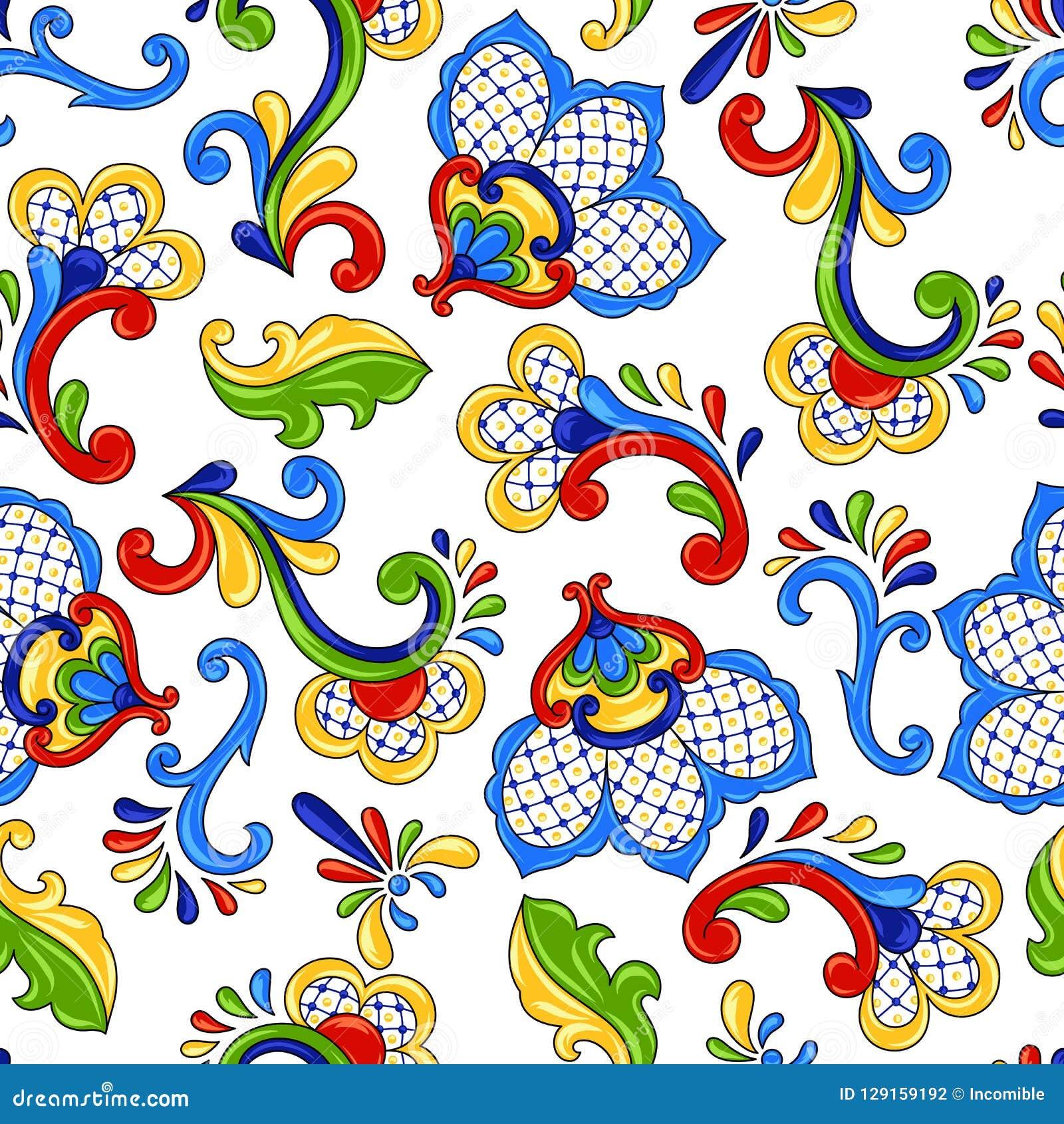 Mexicaanse naadloze patroonbloemen