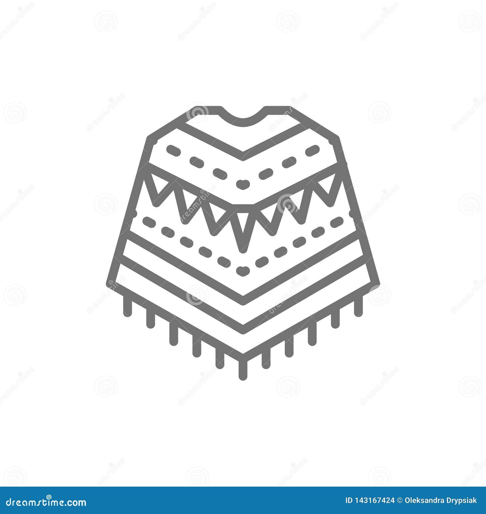 Mexicaanse poncho, nationaal waslijnpictogram