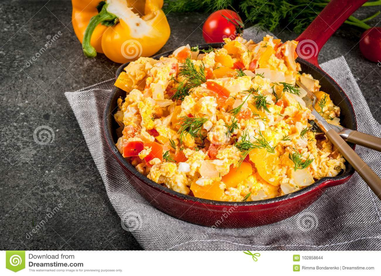 Mexicaanse voedselrecepten Revoltillo DE Huevos, Roereieren La Dominicana