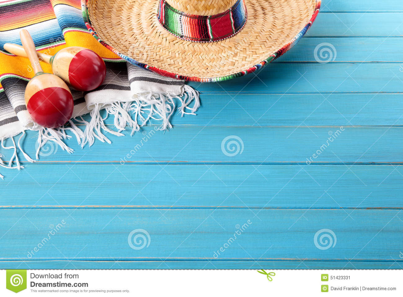 Mexico Mexican Fiesta Background Sombrero Copy Space