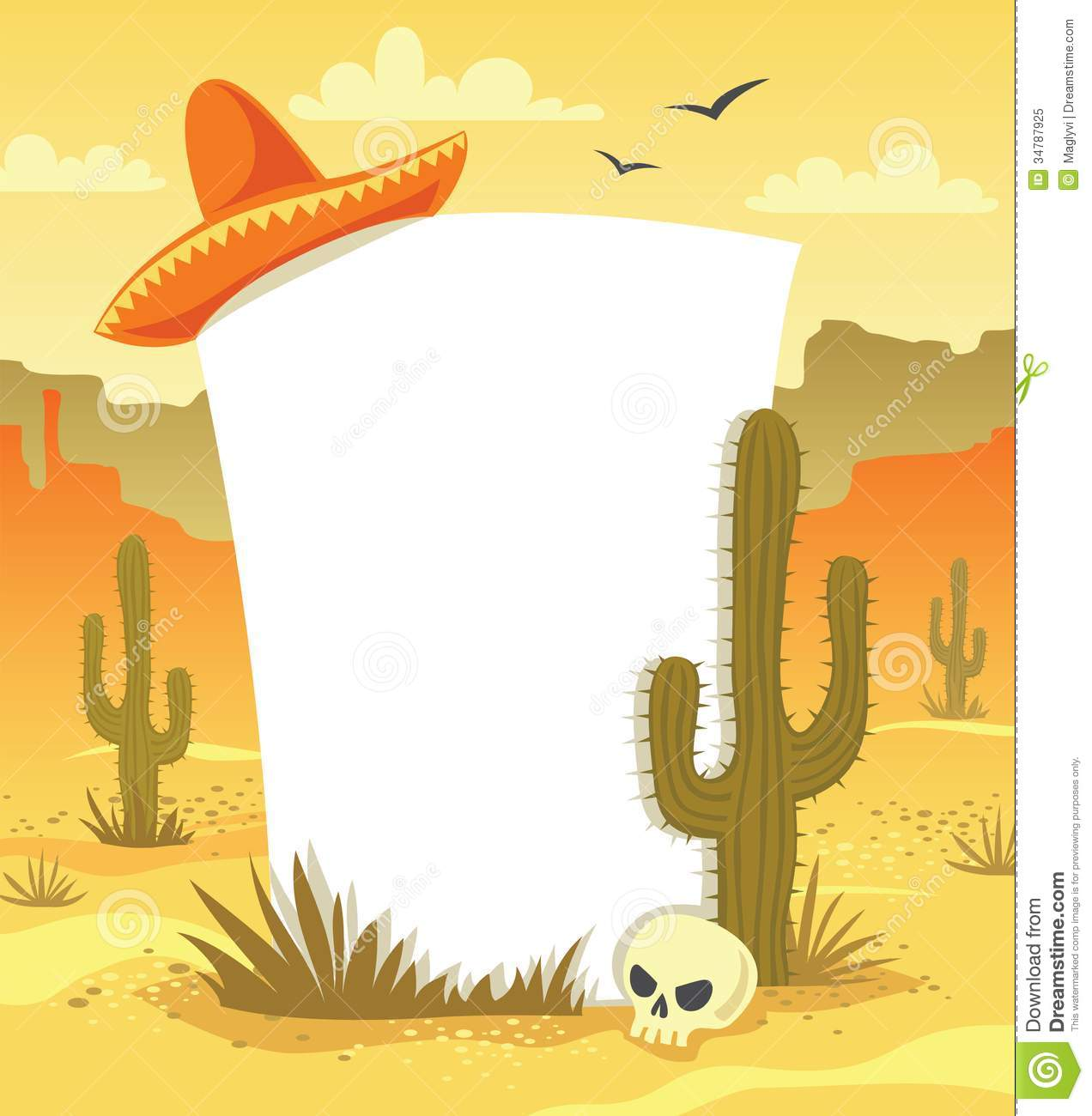 Mexican background stock vector illustration of arizona for Mexican themed powerpoint template