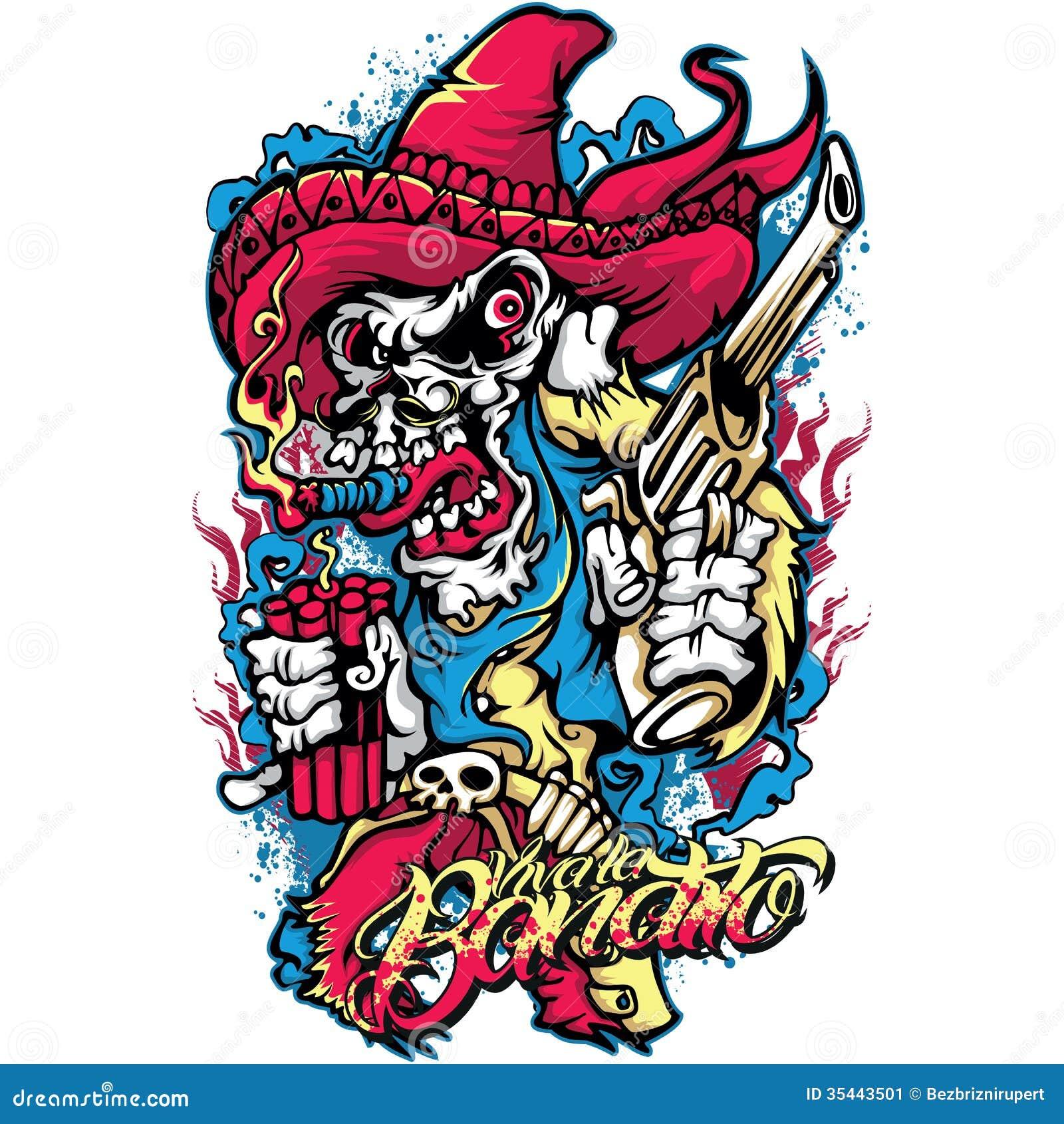 T shirt design download - Mexican Bandit
