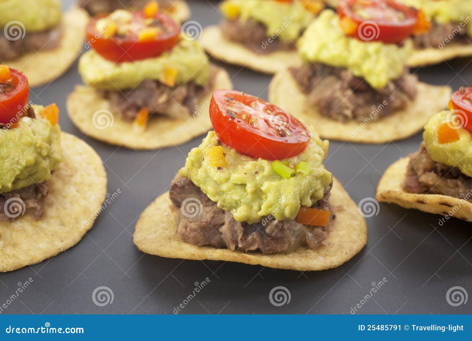 Mexican Bites Nachos Appetiser Finger Food Stock Image - Image ...