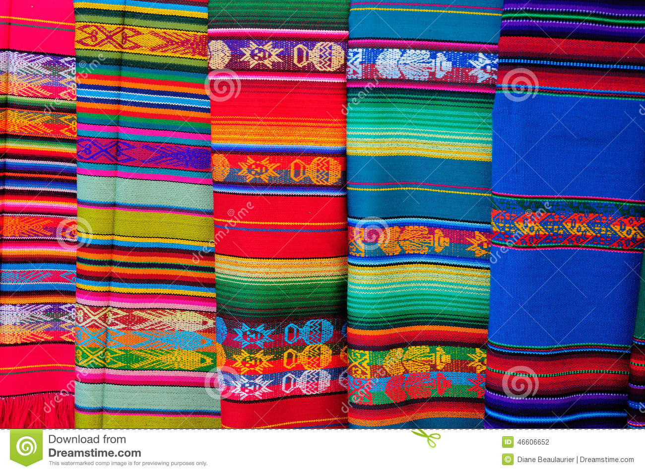 colorful mexican blankets stock photos images  pictures    - mexican blankets stock photography