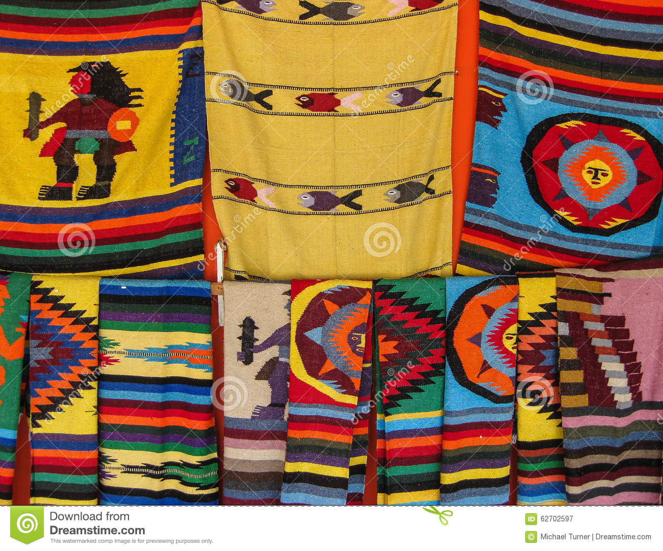 Mexican Blankets Editorial Photography Image 62702597