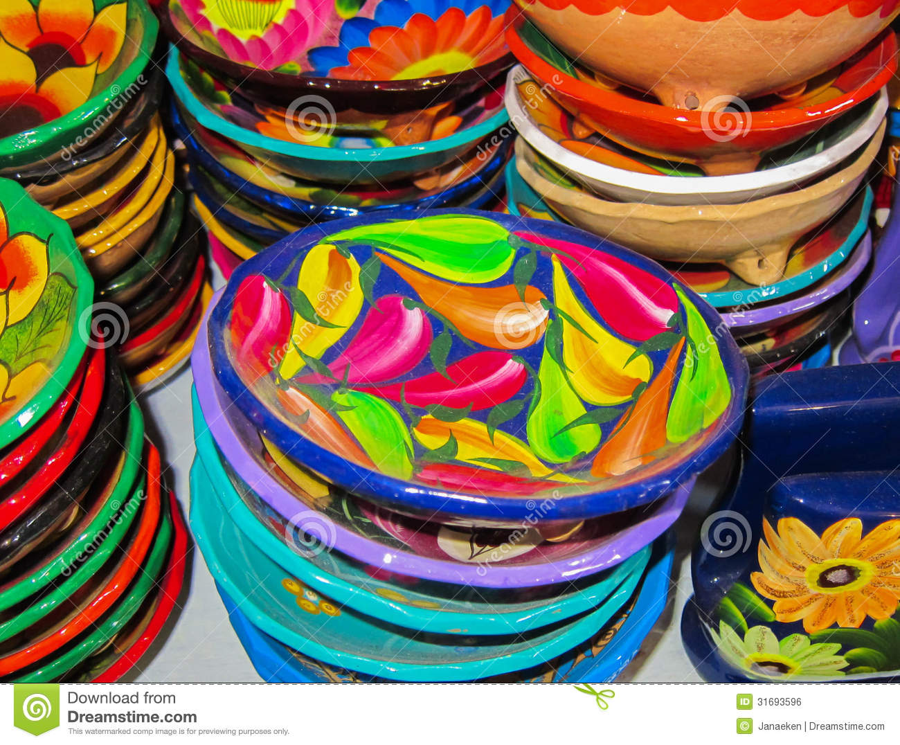Mexican Bowls Royalty Free Stock Image Image 31693596