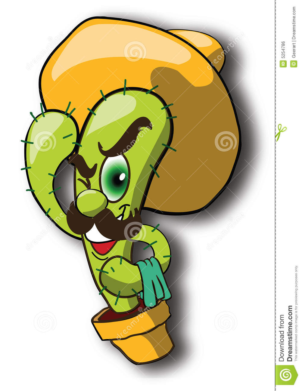 Mexican Cactus Sombrero Royalty Free Stock Image - Image: 5254786