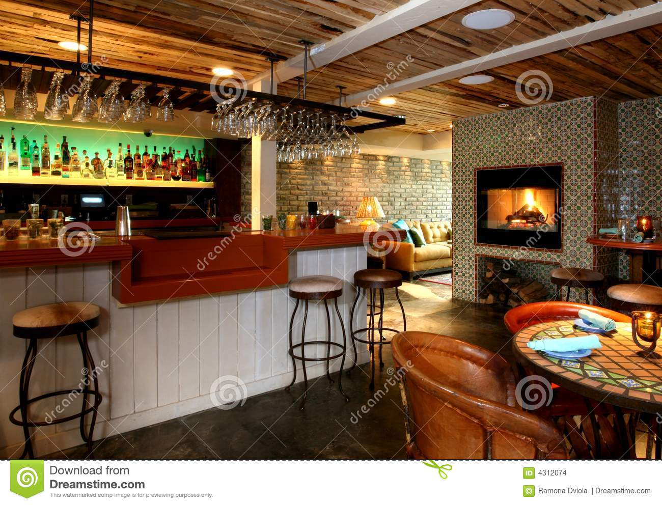 Food Bar Cantina Rijeka Of A Mexican Cantina Stock Photo Image Of Black Diner